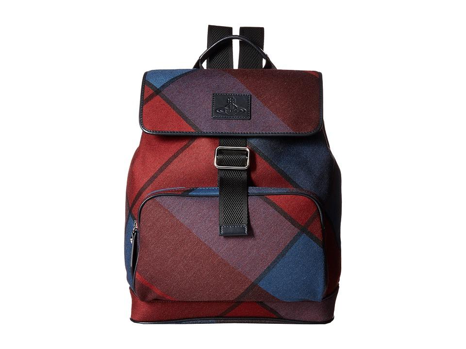 Vivienne Westwood - Tartan Rucksack (Bordeaux) Backpack Bags