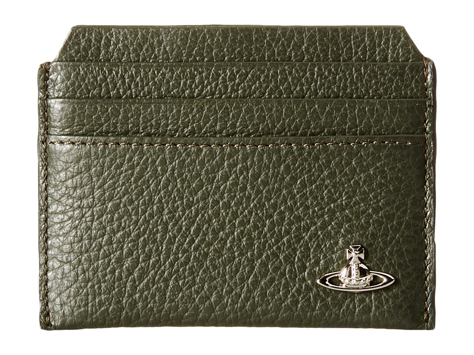 Vivienne Westwood - Leather New Credit Card Holder (Green) Credit card Wallet
