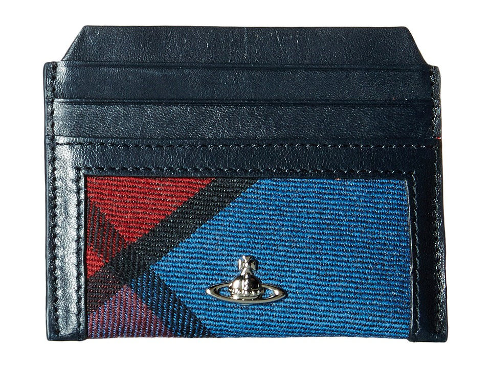 Vivienne Westwood - Tartan New Credit Card Holder (Bordeaux) Credit card Wallet
