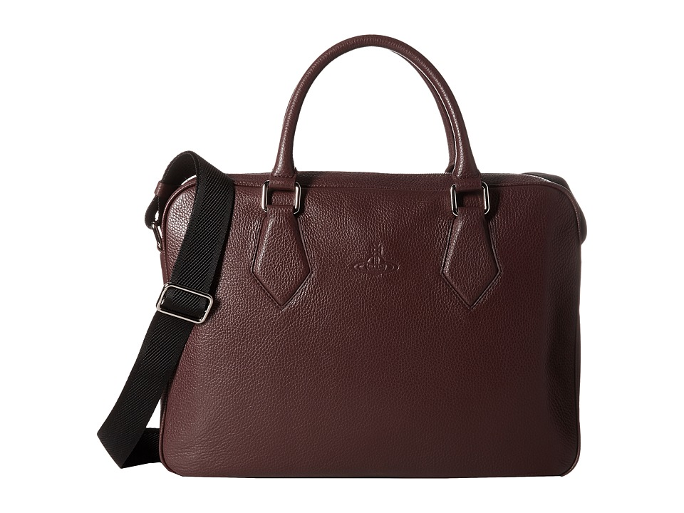 Vivienne Westwood - Leather Document Bag (Bordeaux) Briefcase Bags