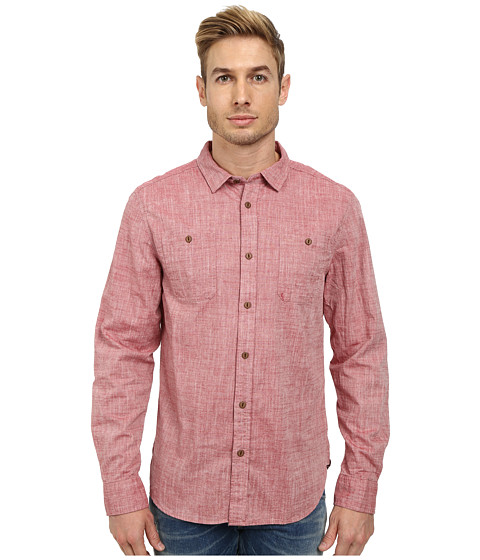 J.A.C.H.S. - Chambray Shirt (Red) Men's Clothing