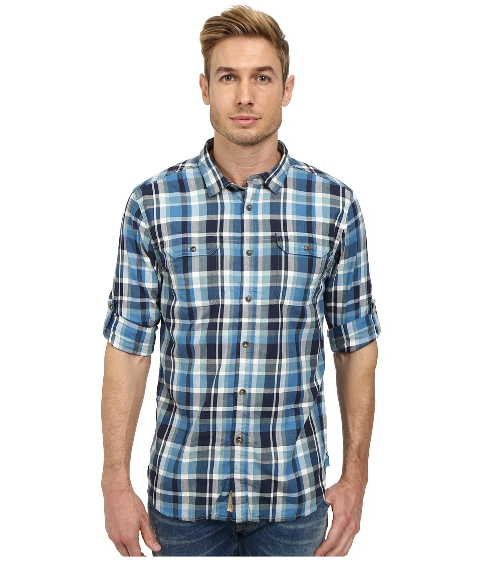 J.A.C.H.S. - Double Mittered Pocket Roll Back Shirt (Blue) Men