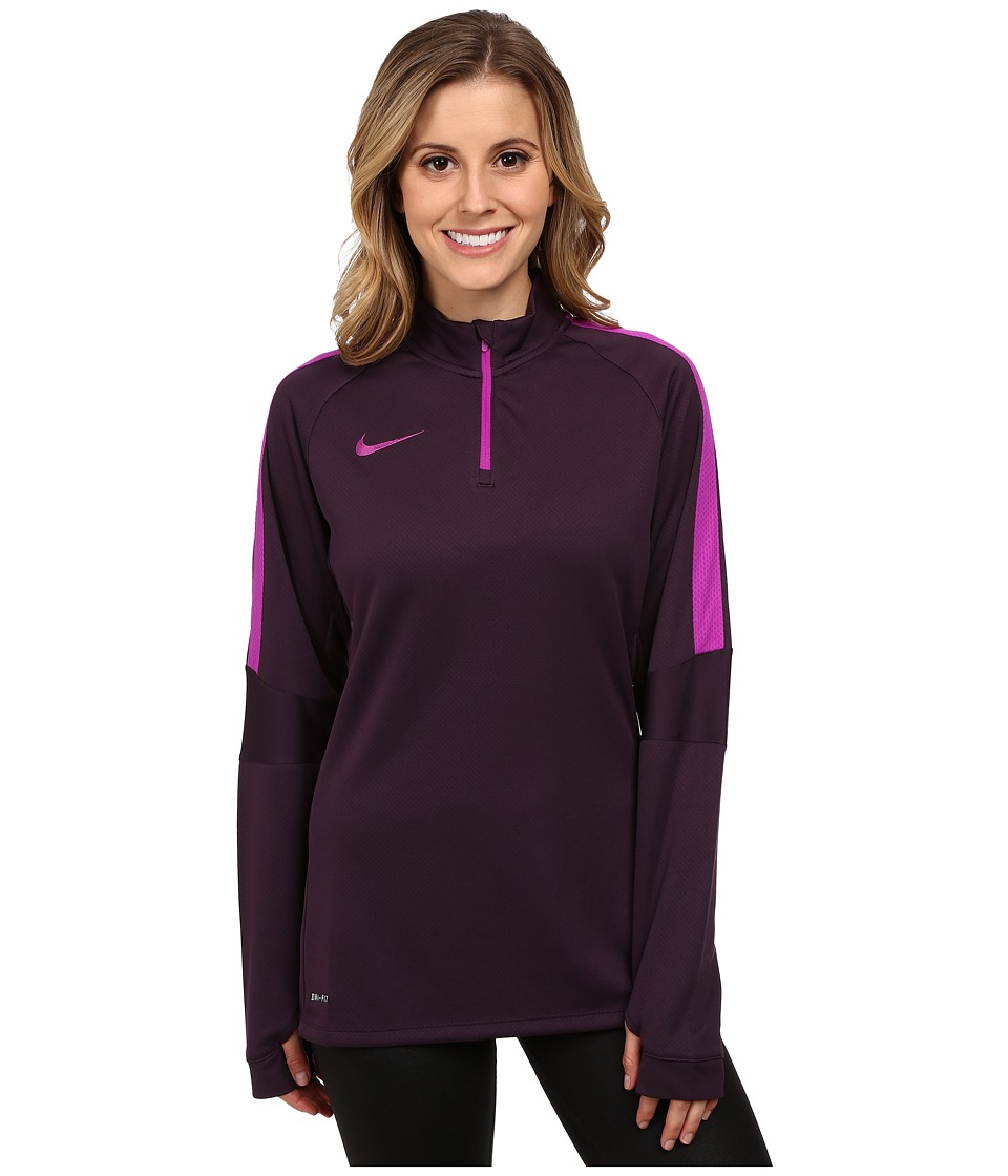 Nike - Squad Long Sleeve Midlayer - Parent (Noble Purple/Vivid Purple/Vivid Purple) Women's Clothing