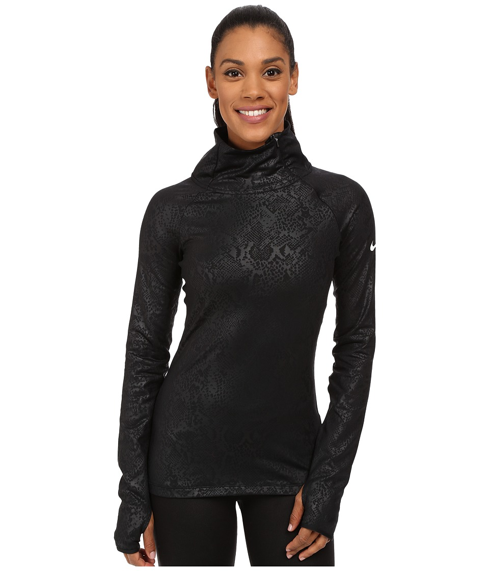UPC 886066891222 product image for Nike - Pro Warm Embossed Hyperwarm Vixen  Raglan (Black/ UPC 886066891222 product image for Women's ...