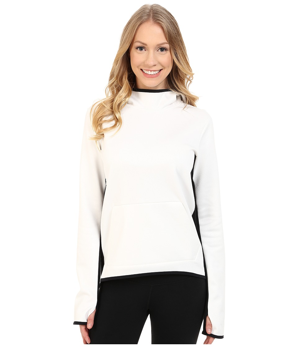 Nike - All Time Tech Embossed Hyperwarm Vixen Hoodie (Ivory/Black/Black) Women's Sweatshirt