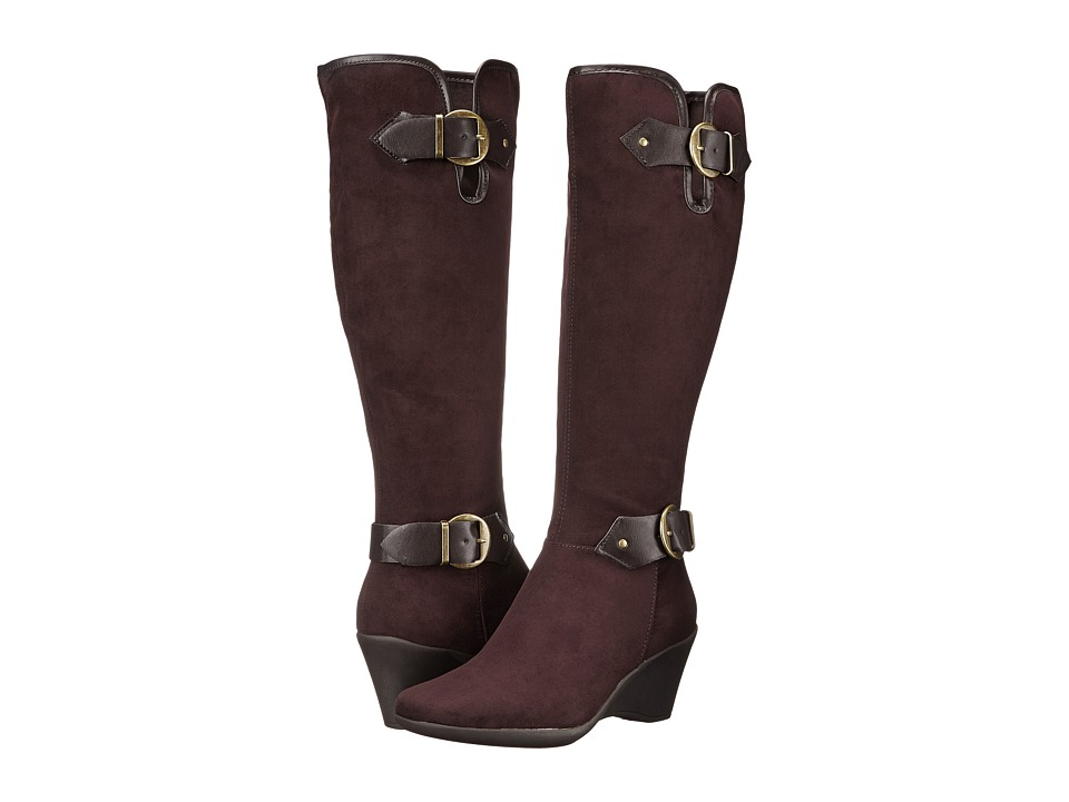 Aerosoles - Wonderful (Brown Fabric) Women's Zip Boots