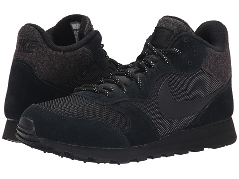 Nike - MD Runner 2 Mid (Black/White/Black) Men's Cross Training Shoes