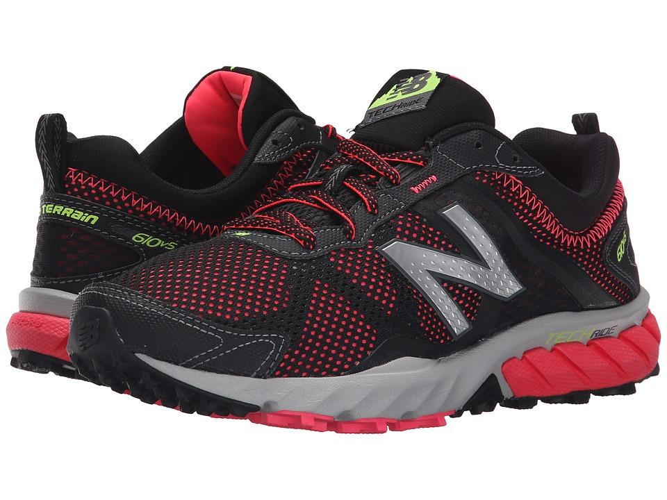 New Balance - T610v5 (Black/Pink Zing) Women's Running Shoes