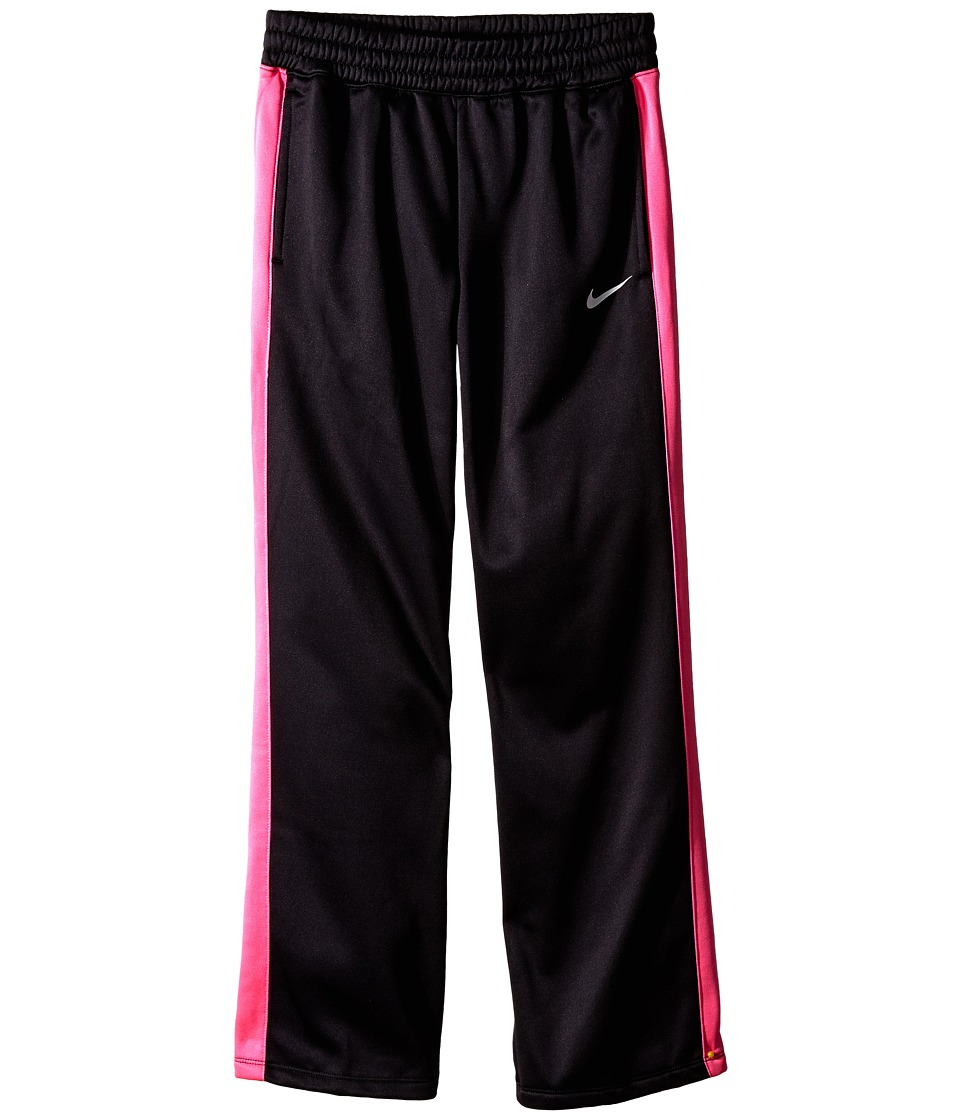 Nike Kids - KO 3.0 Fleece Pants (Little Kids/Big Kids) (Black/Pink Pow/Pink Pow/White) Girl's Workout