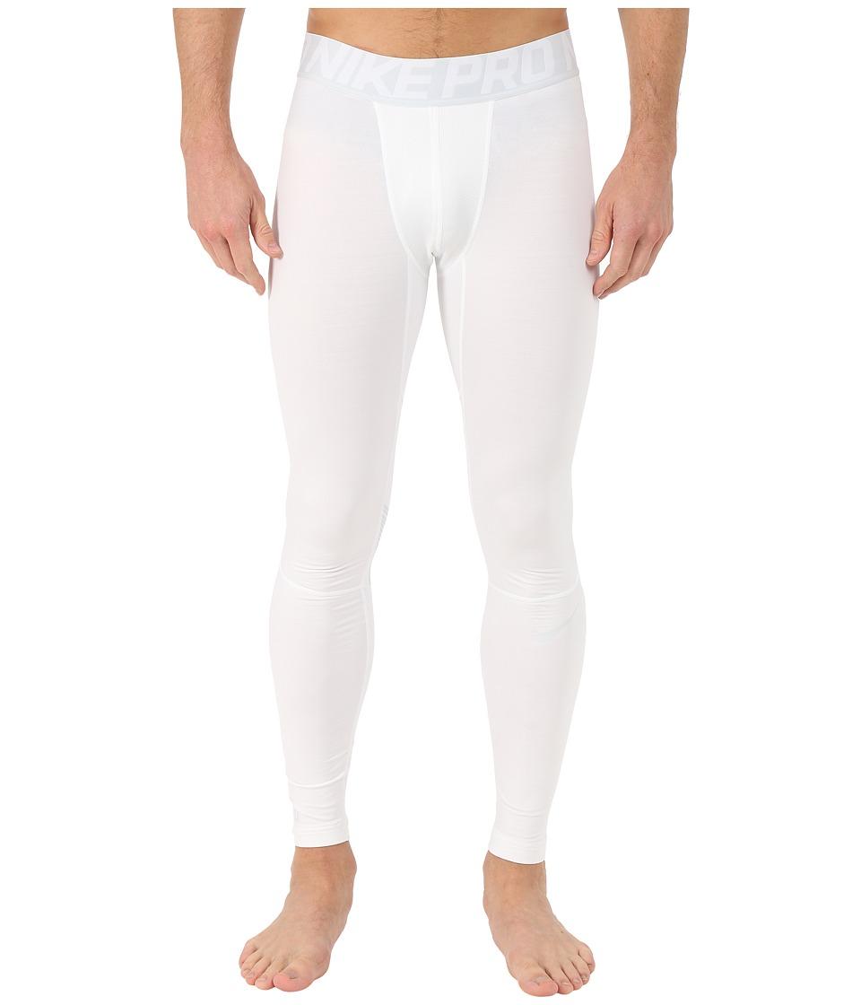 Nike - Pro Hyperwarm Compression Training Tight (White/Pure Platinum/Pure Platinum) Men