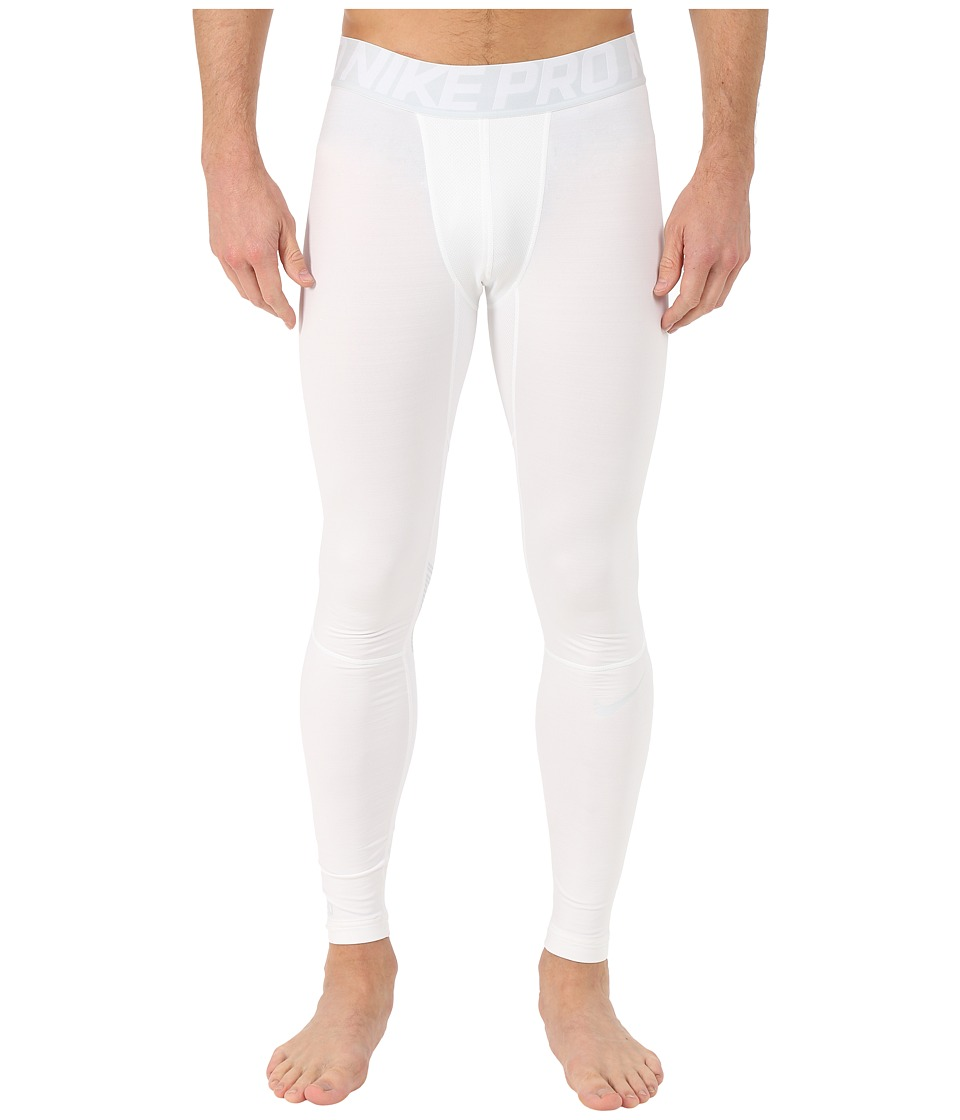 Nike - Pro Hyperwarm Compression Training Tight (White/Pure Platinum/Pure Platinum) Men's Workout