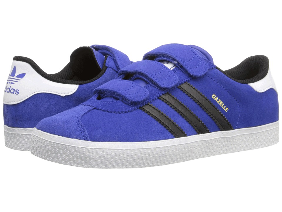 adidas Originals Kids - Gazelle 2 CF (Little Kid) (Bold Blue/Core Black/Footwear White) Boys Shoes