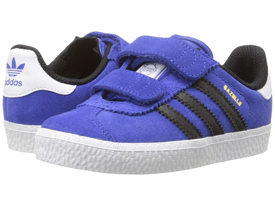 adidas Originals Kids - Gazelle 2 CF (Toddler) (Bold Blue/Core Black/Footwear White) Boys Shoes