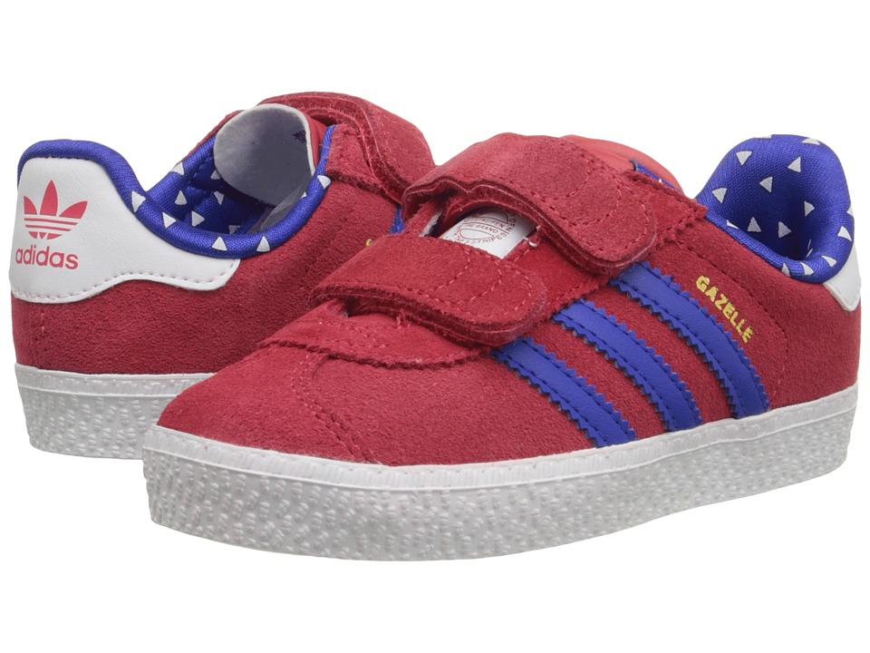 adidas Originals Kids - Gazelle 2 CF (Toddler) (Joy/Bold Blue/Footwear White) Girls Shoes