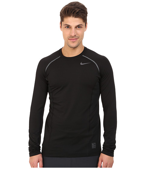 Nike - Hyperwarm Dri-FIT Max Fitted Long Sleeve Top (Black/Dark Grey/Dark Grey) Men's Long Sleeve Pullover