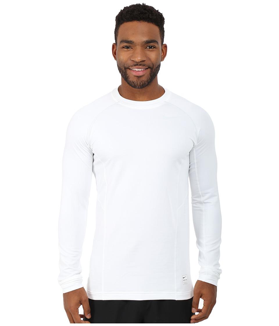 Nike - Hyperwarm Dri-FIT Max Fitted Long Sleeve Top (White/Pure Platinum/Pure Platinum) Men
