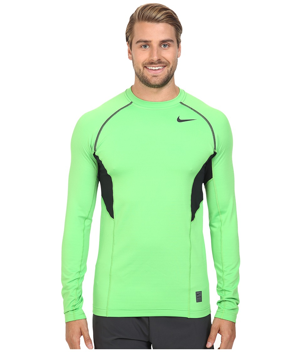 Nike - Hyperwarm Dri-FIT Max Fitted Long Sleeve Top (Green Pulse/Black/Black) Men's Long Sleeve Pullover