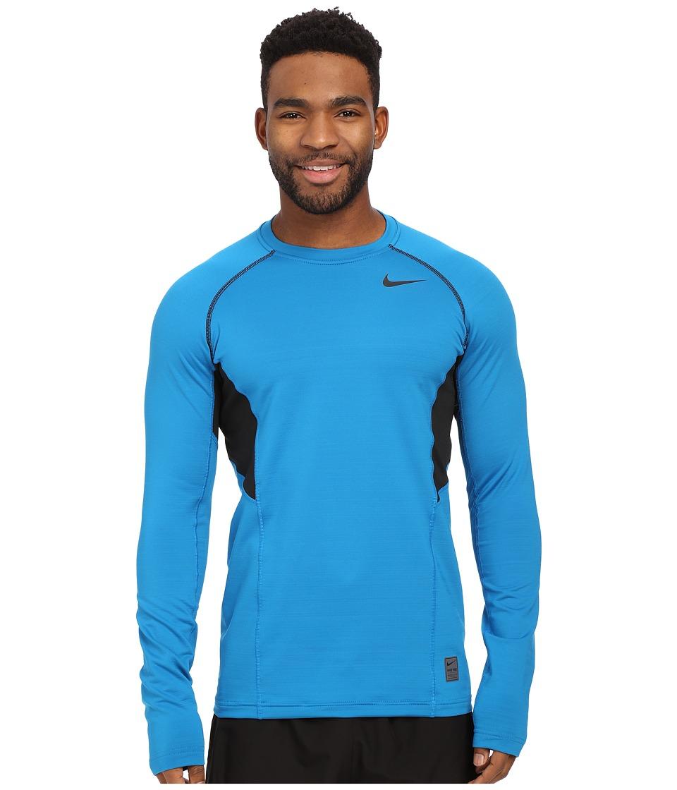 Nike - Hyperwarm Dri-FIT Max Fitted Long Sleeve Top (Imperial Blue/Black/Black) Men's Long Sleeve Pullover
