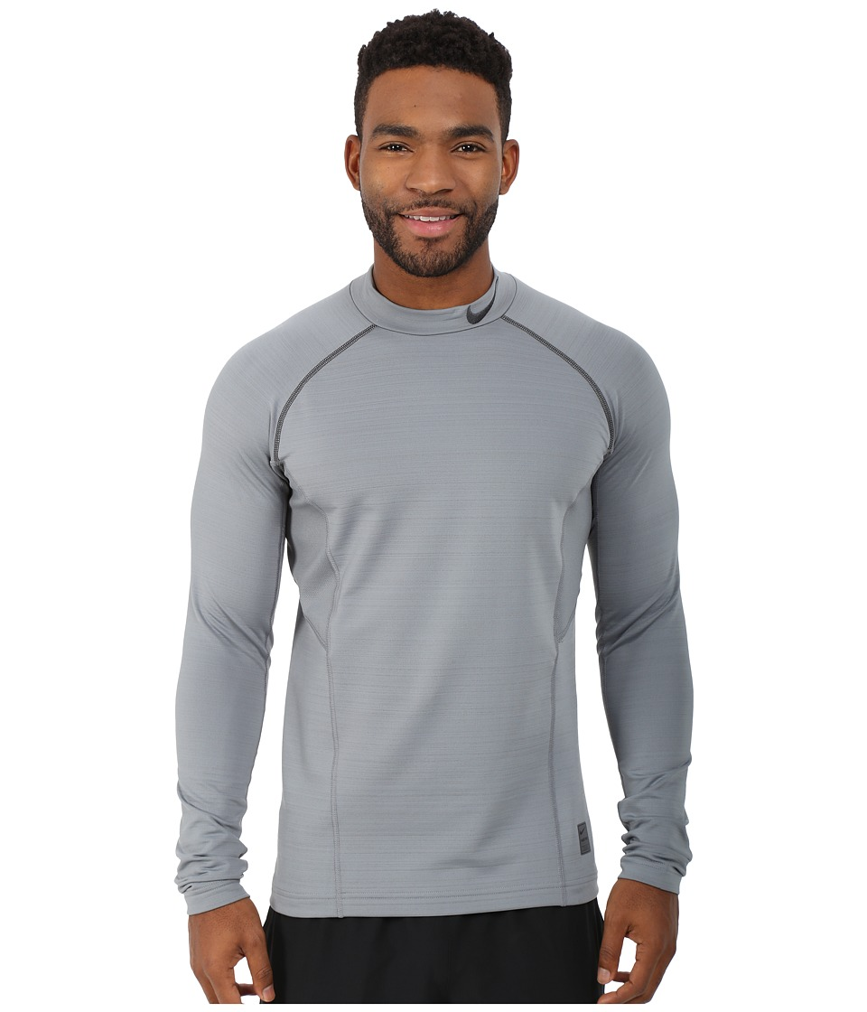 Nike - Hyperwarm Fitted Mock (Cool Grey/Anthracite/Anthracite) Men's Long Sleeve Pullover