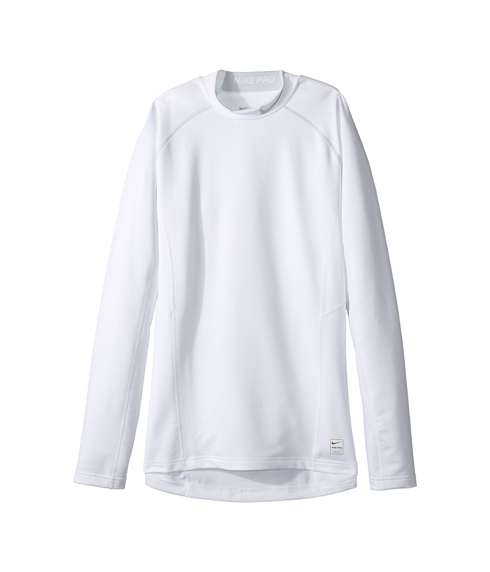 Nike - Hyperwarm Fitted Mock (White/Pure Platinum/Pure Platinum) Men's Long Sleeve Pullover