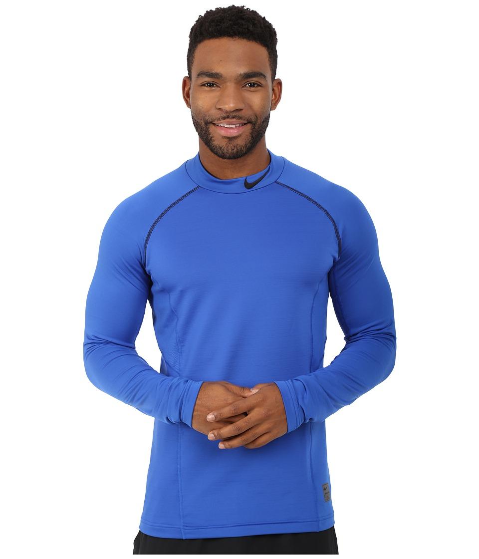 Nike - Hyperwarm Fitted Mock (Game Royal/Black/Black) Men