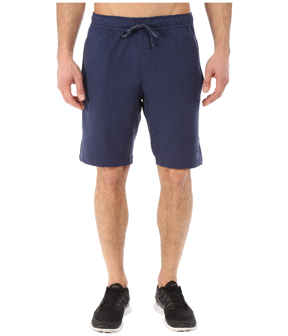 Nike - Dri-FIT Touch Fleece Shorts (Midnight Navy/Black) Men's Shorts