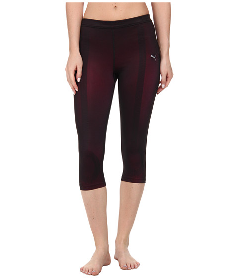 PUMA - Fitness ACTV Power 3/4 Tight (Black/Shade/Beetroot) Women