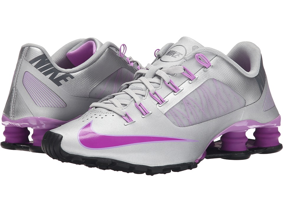 Nike - Shox Superfly R4 (Metallic Silver/Fuchsia Glow/Dark Grey/Vivid Purple) Women's Cross Training Shoes
