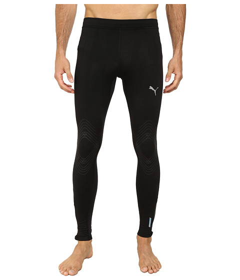 PUMA - Pure ACTV Long Running Tight (Black) Men's Workout
