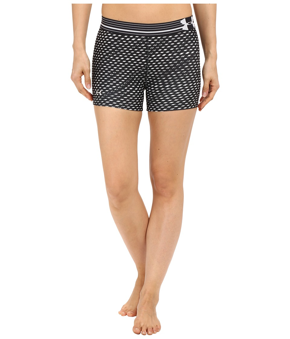 Under Armour UA HeatGear(r) Armour Compression Printed Shorty (Black/White/Metallic Silver/Diamond) Women
