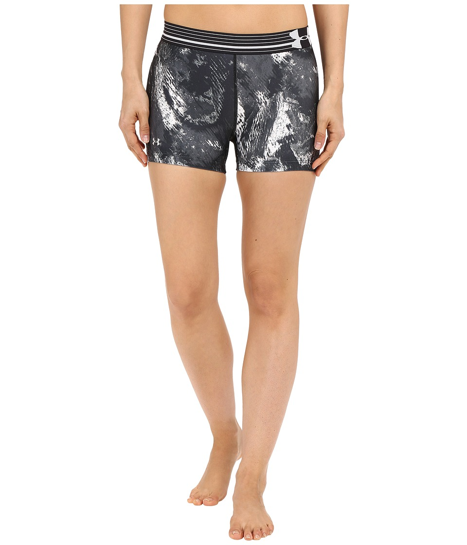 Under Armour - UA HeatGear(r) Armour Compression Printed Shorty (Black/White/Metallic Silver/Diamond) Women's Shorts