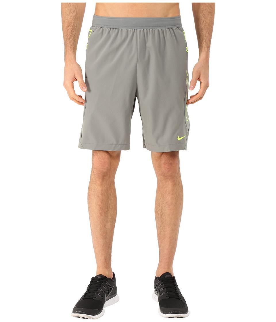 Nike - Vapor 8 Short (Tumbled Grey/Volt/Volt) Men's Shorts