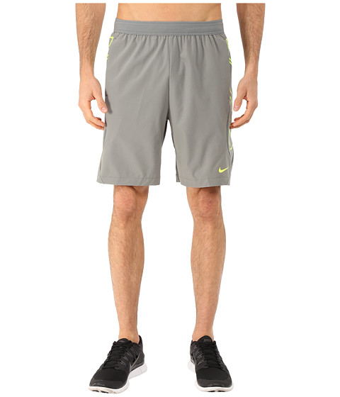Nike - Vapor 8 Short (Tumbled Grey/Volt/Volt) Men's Shorts