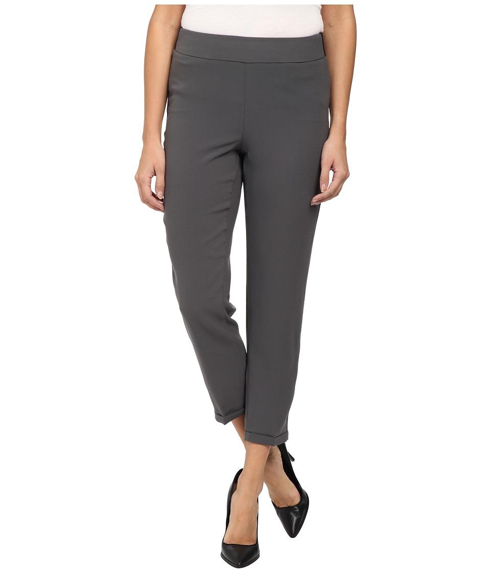 NYDJ - Nikola Ankle Crepe (Dark Graphite) Women's Casual Pants