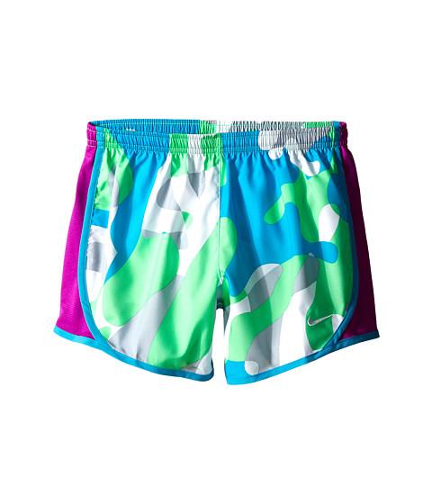Nike Kids - Tempo AOP Shorts (Little Kids/Big Kids) (Electro Green/Vivid Purple/White) Girl