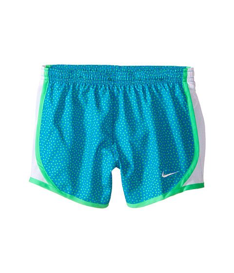 Nike Kids - Tempo AOP Shorts (Little Kids/Big Kids) (Blue Lagoon/White/Electro Green/White) Girl