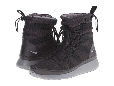 Nike - Roshe Run One Hi (Black/Cool Grey) Women