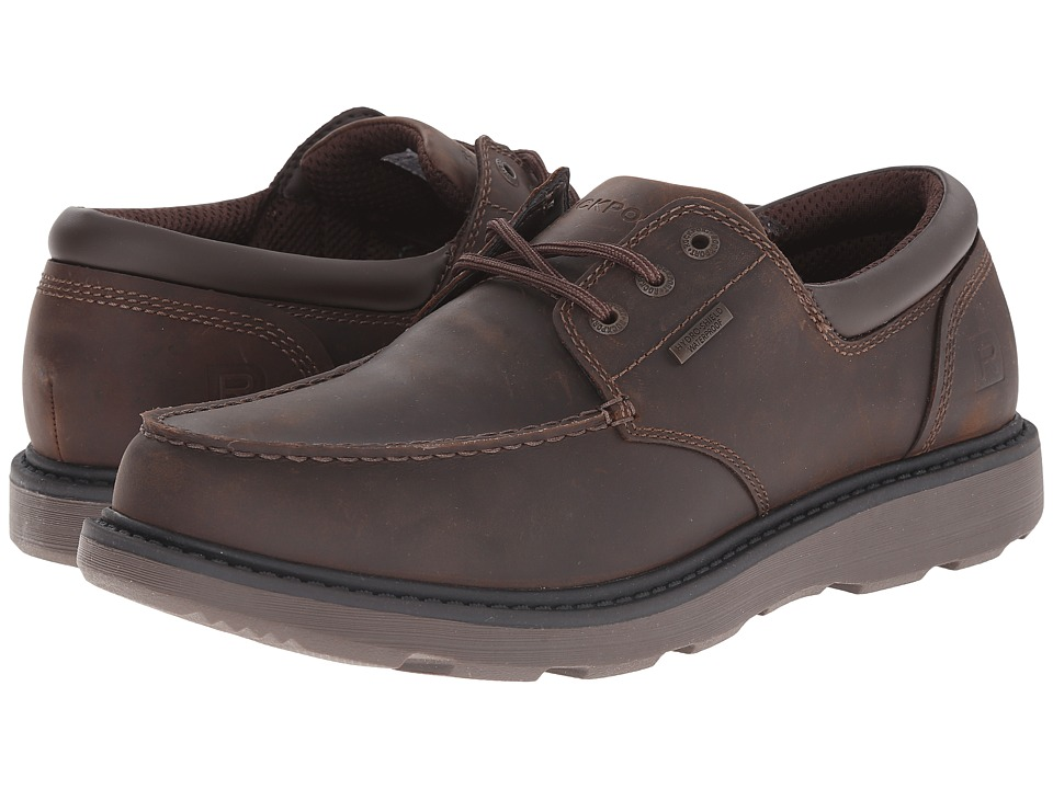 Rockport - Boat Builders Moc Toe Ox (Dark Brown WP) Men's Boots