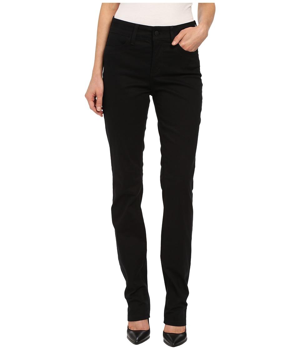 NYDJ - Samantha Slim Peached Sateen (Black) Women's Casual Pants