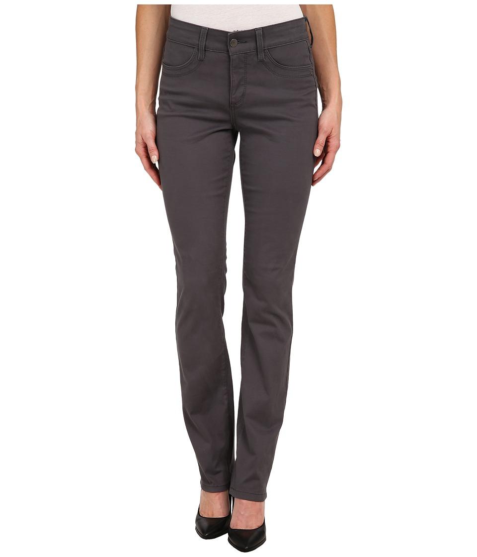NYDJ - Samantha Slim Peached Sateen (Dark Graphite) Women's Casual Pants