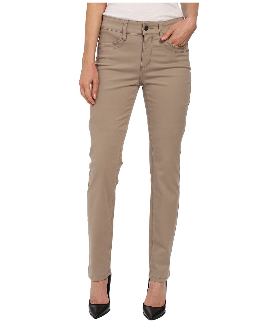 NYDJ - Samantha Slim Peached Sateen (Vintage Taupe) Women's Casual Pants