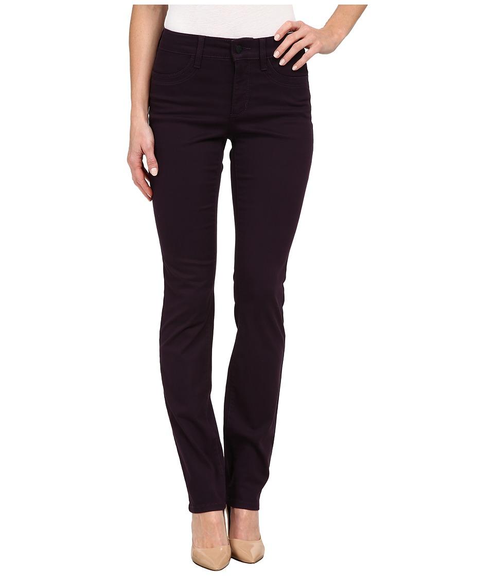 NYDJ - Samantha Slim Peached Sateen (Deep Violet) Women's Casual Pants