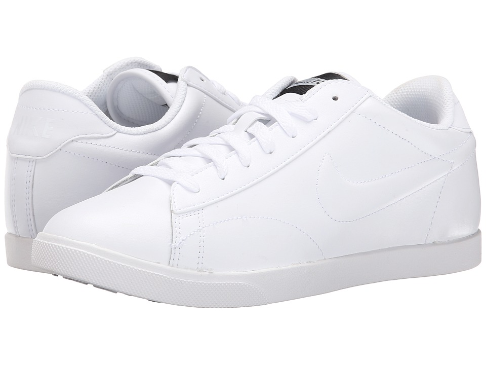 Nike - Racquette Leather (White/Black/Wolf Grey/White) Women's Court Shoes