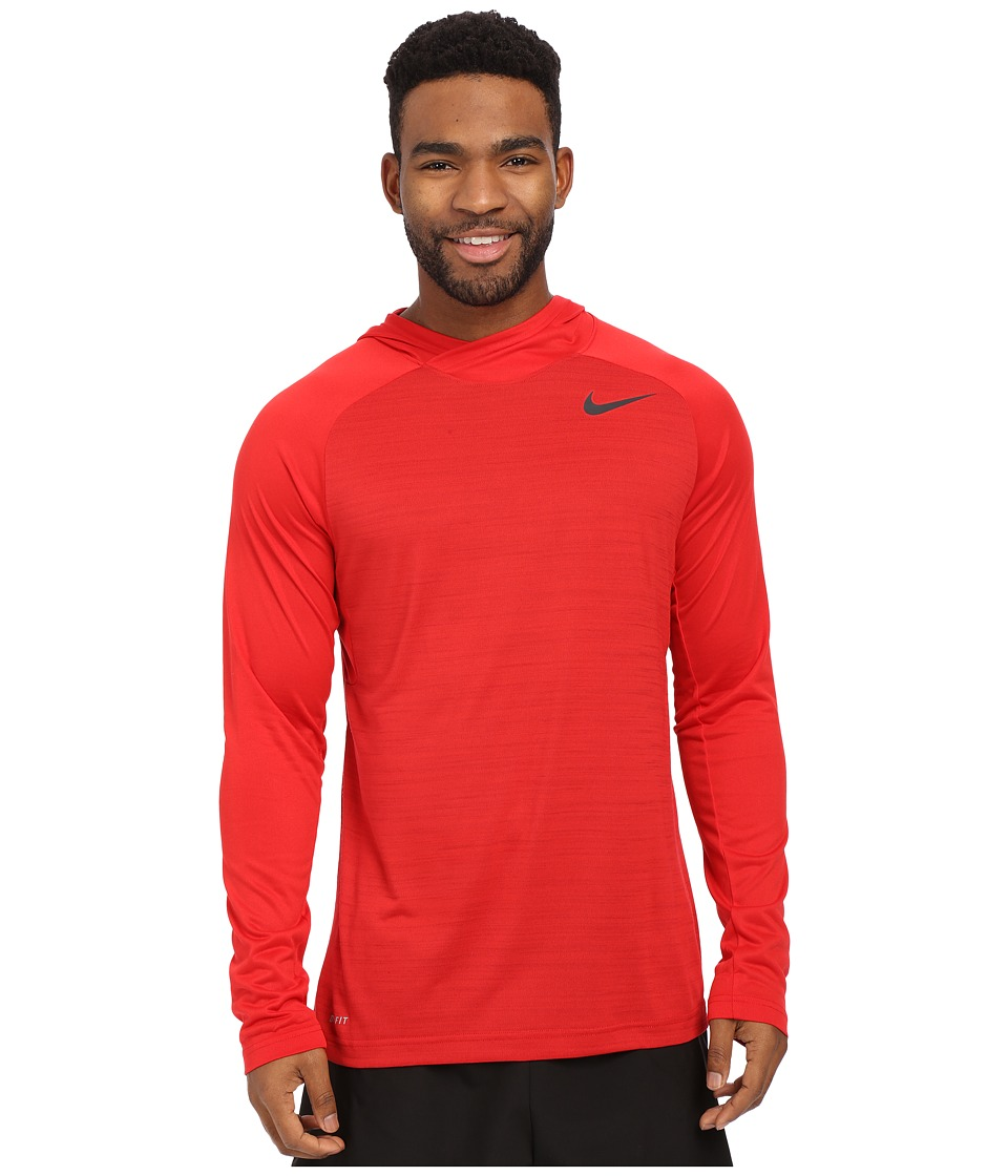 Nike - Dri-Fit Touch Long Sleeve Hoodie (University Red/Gym Red/Black) Men's Sweatshirt