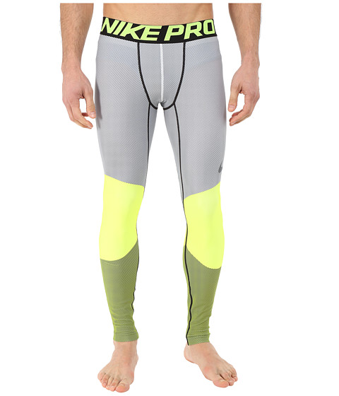 Nike - Hyperwarm Dri-Fit Max Compression 5 Quarter Tights (Volt/Black) Men's Workout
