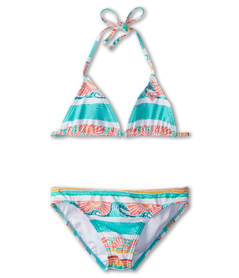 Roxy Kids - Sea You Soon Tiki Tri Set (Big Kids) (Waterfall) Girl