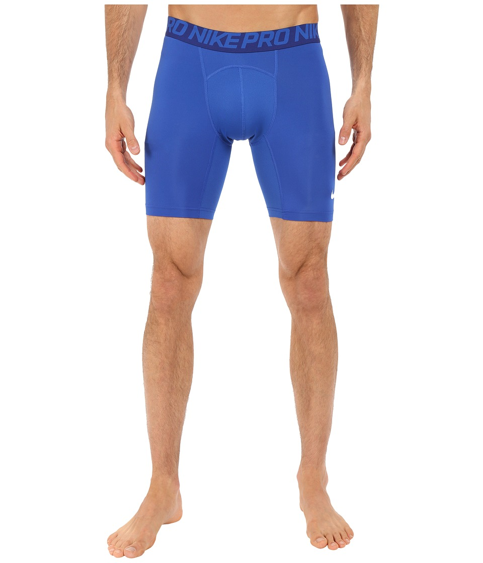 Nike - Cool Compression 6 Shorts (Game Royal/Deep Royal Blue/White) Men's Shorts