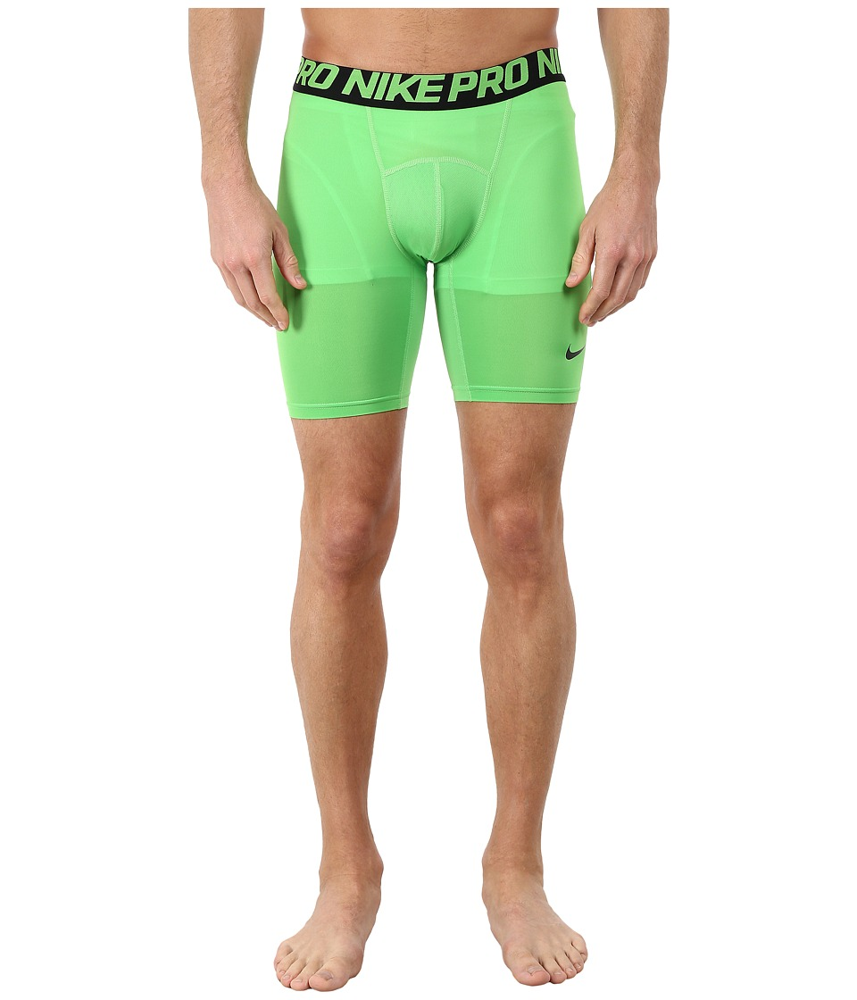 Nike - Cool Compression 6 Shorts (Green Pulse/Black/Black) Men's Shorts