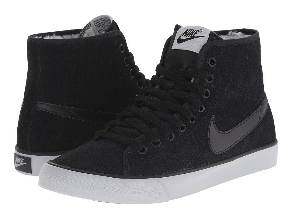 Nike - Primo Court Mid Suede (Black/Wolf Grey/Gum Light Brown/Black) Women's Shoes