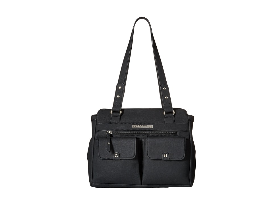 Rosetti - Pocket Change Satchel (Black) Satchel Handbags